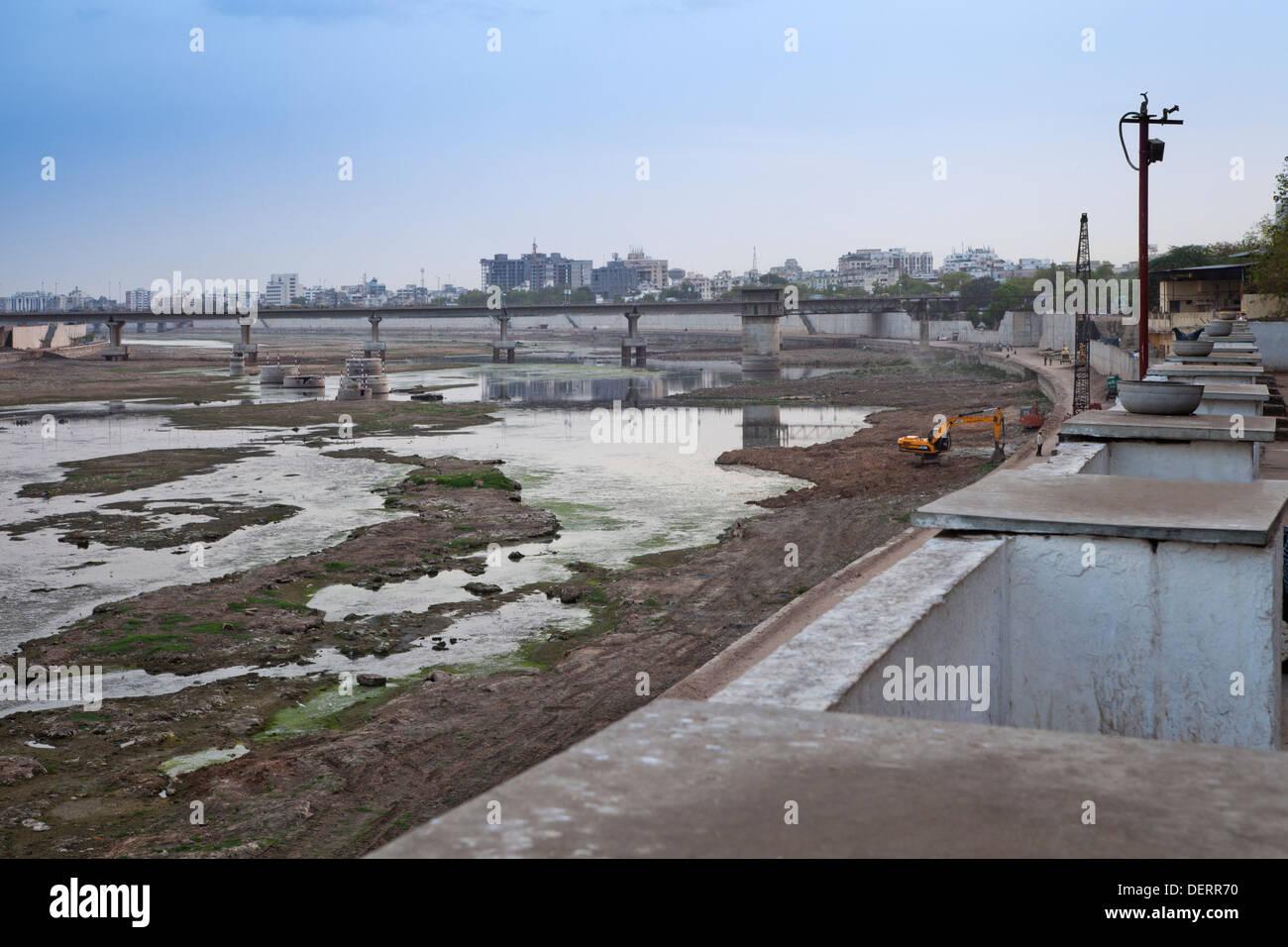 Sabarmati Riverfront, Ahmedabad, Gujarat, India Stock Photo