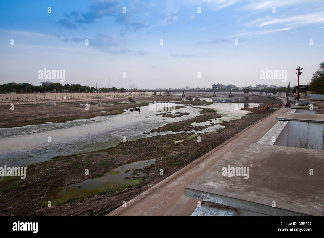 Sabarmati Riverfront, Ahmedabad, Gujarat, India - Stock Image