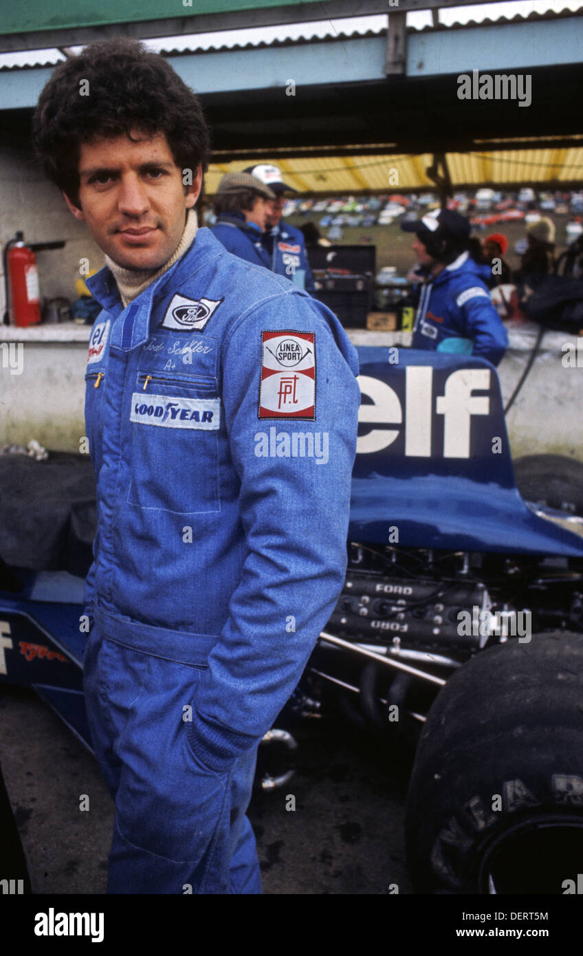 jody scheckter of tyrell ford team at race of champions brands hatch stock photo 60760160 alamy. Black Bedroom Furniture Sets. Home Design Ideas