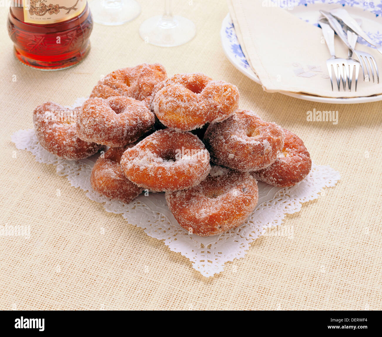 Fritters to be eaten traditionally during Lent season in Spain - Stock Image