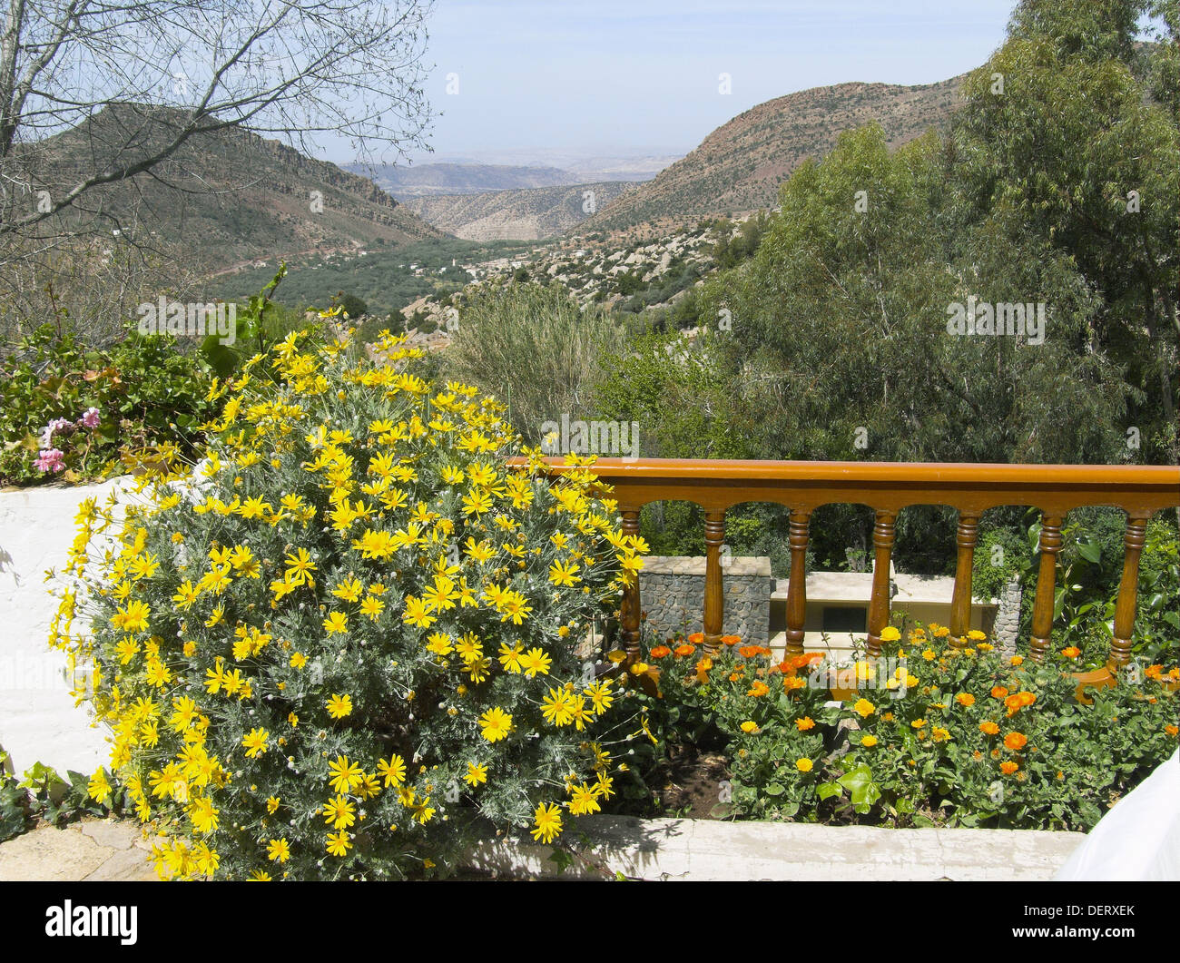 Garden Of Hotel Des Cascades Immouzer Agadir Region Morocco Stock Photo Alamy