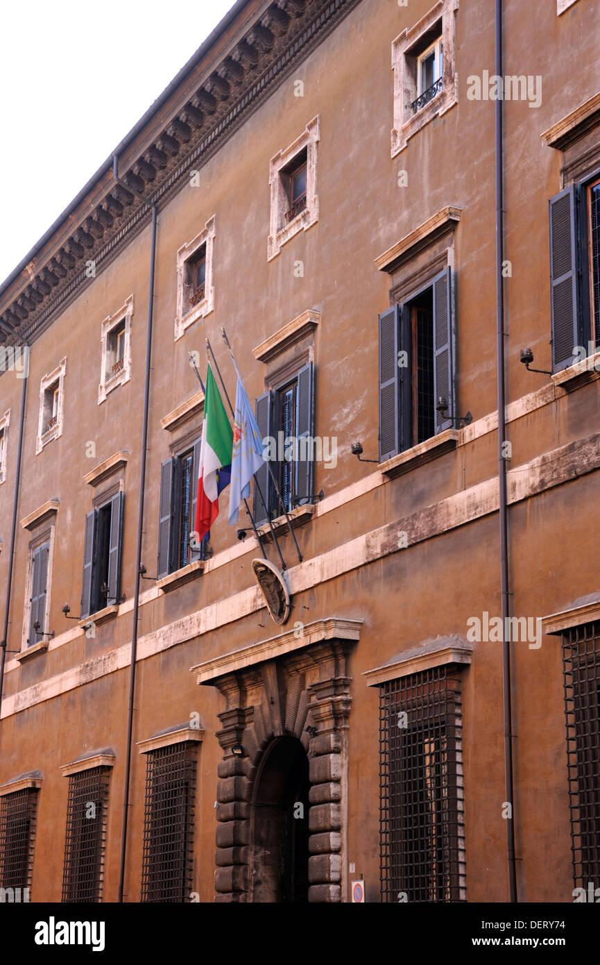 italy, rome, complex of santo spirito in saxia, palazzo del commendatore - Stock Image