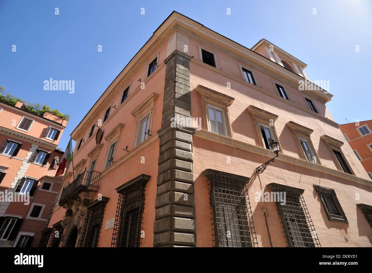 italy, rome, palazzo carpegna, accademia nazionale di san luca, national academy of fine arts - Stock Image