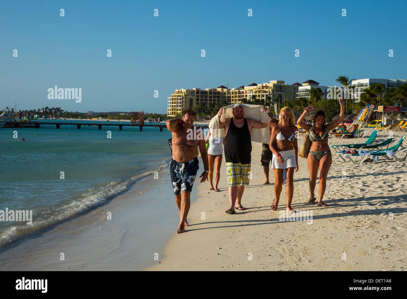 Palm Beach Aruba - Stock Image