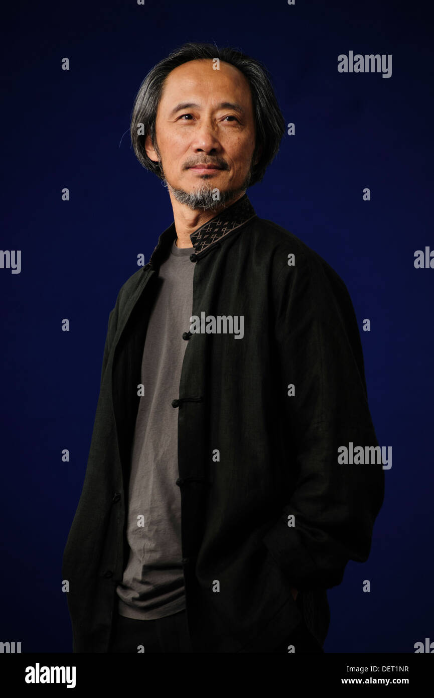 Ma Jian, Chinese writer, attending the Edinburgh International Book Festival, Monday 12th August 2013. - Stock Image