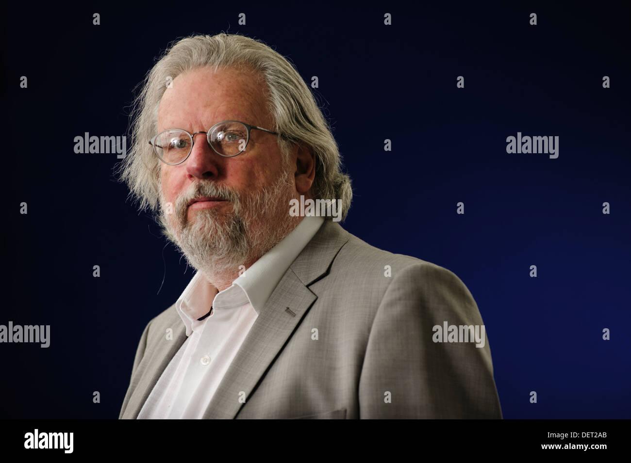Richard Abraham Gekoski, Writer, broadcaster, rare book dealer, attending the Edinburgh International Book Festival 2013. - Stock Image