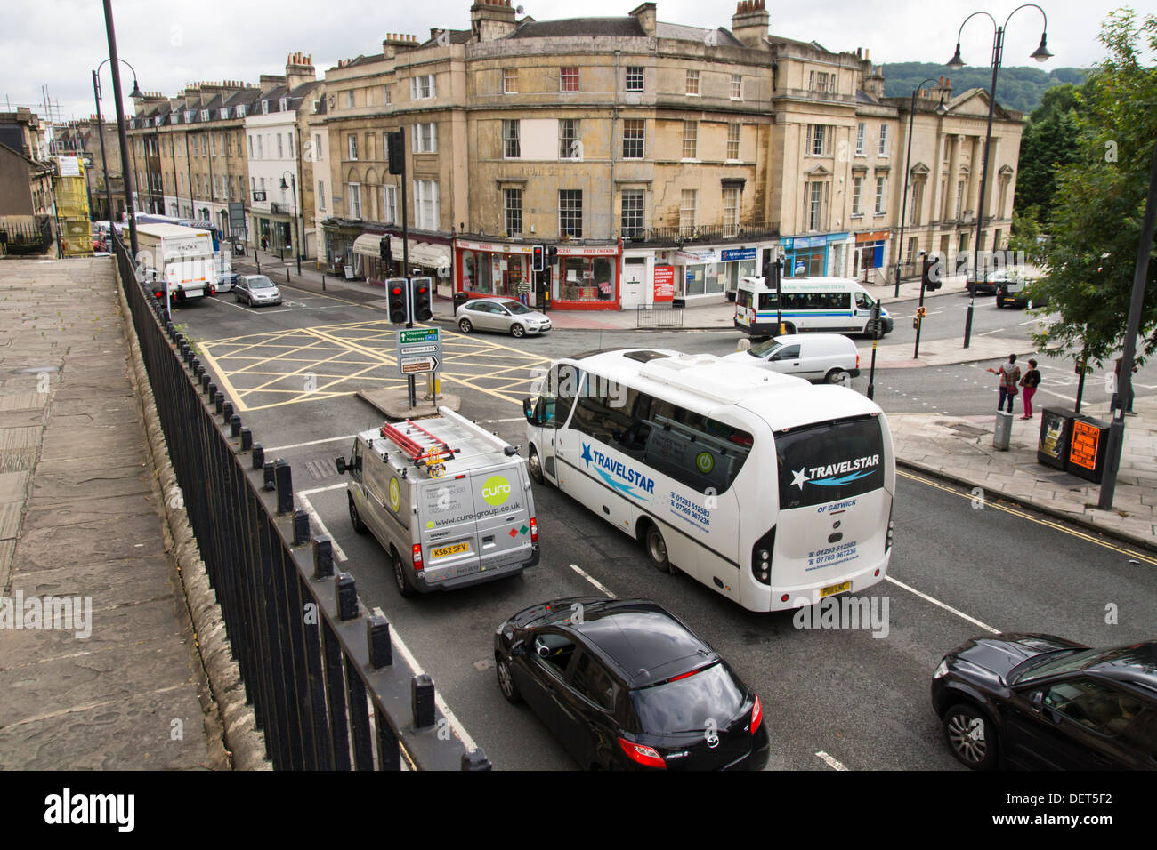 Bath  a city in Somerset England UK  City congestion and traffic - Stock Image