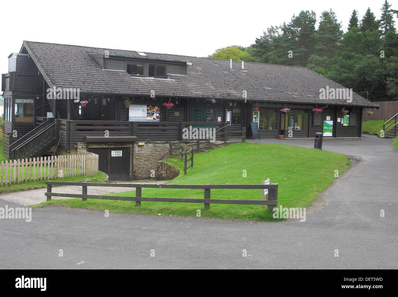 Boat Inn, Leaplish Waterside Park, Kielder Water, Northumberland, England, UK - Stock Image