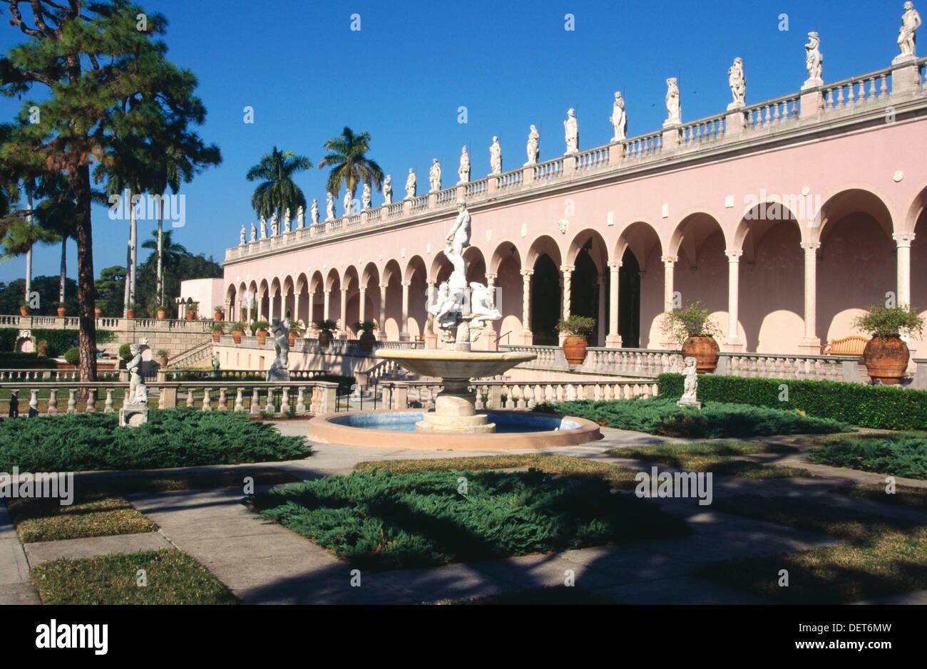 Cà d´Zan (´John´s House´), John and Mable Ringling´s historic mansion. Sarasota. Florida. USA Stock Photo