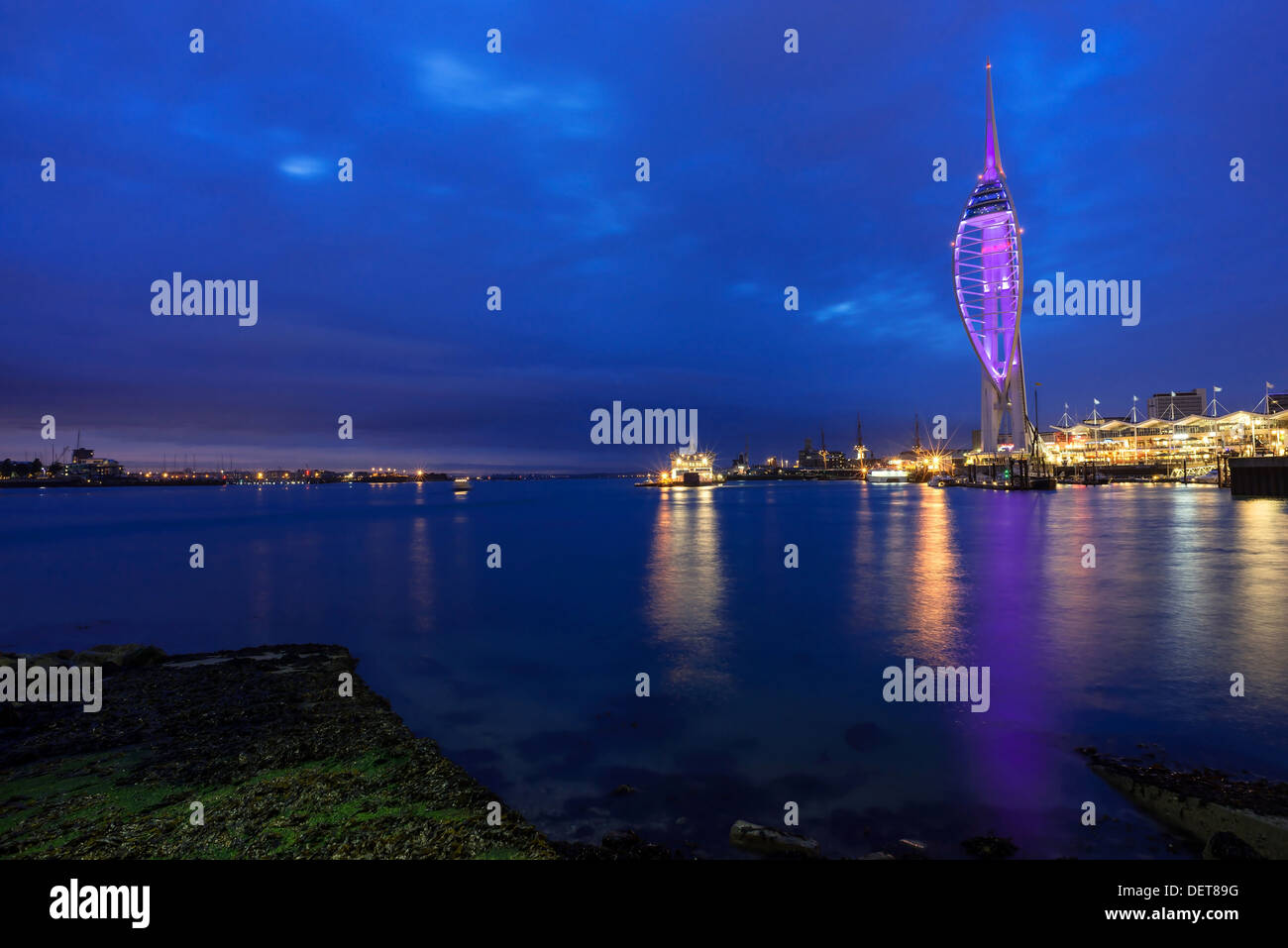 A view of Tower Spinnaker at Portsmouth, Hampshire, UK Stock Photo