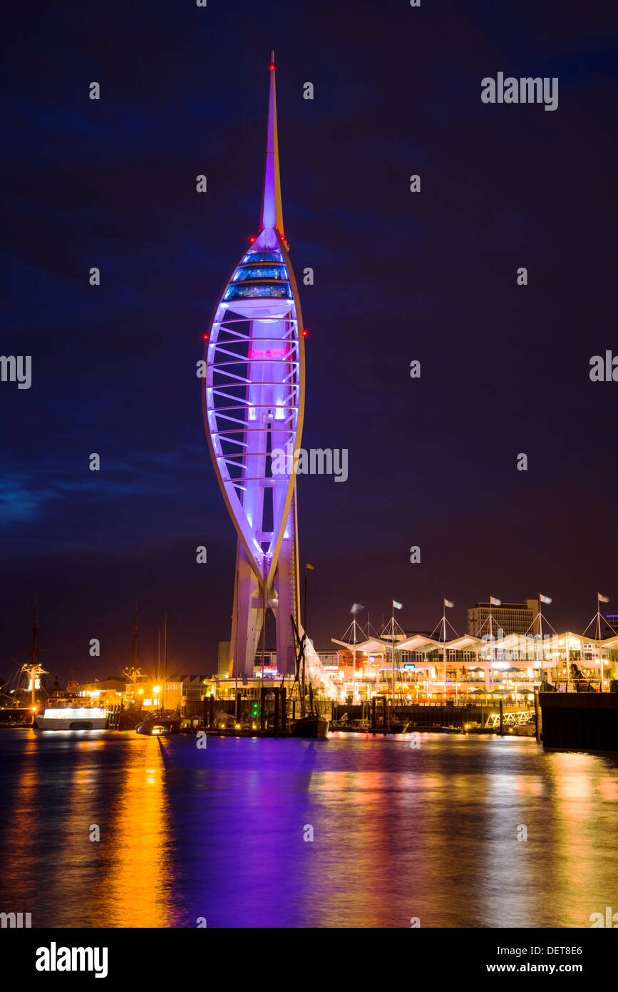 Tower Spinnaker in Gunwharf at Portsmouth, Hampshire, UK Stock Photo