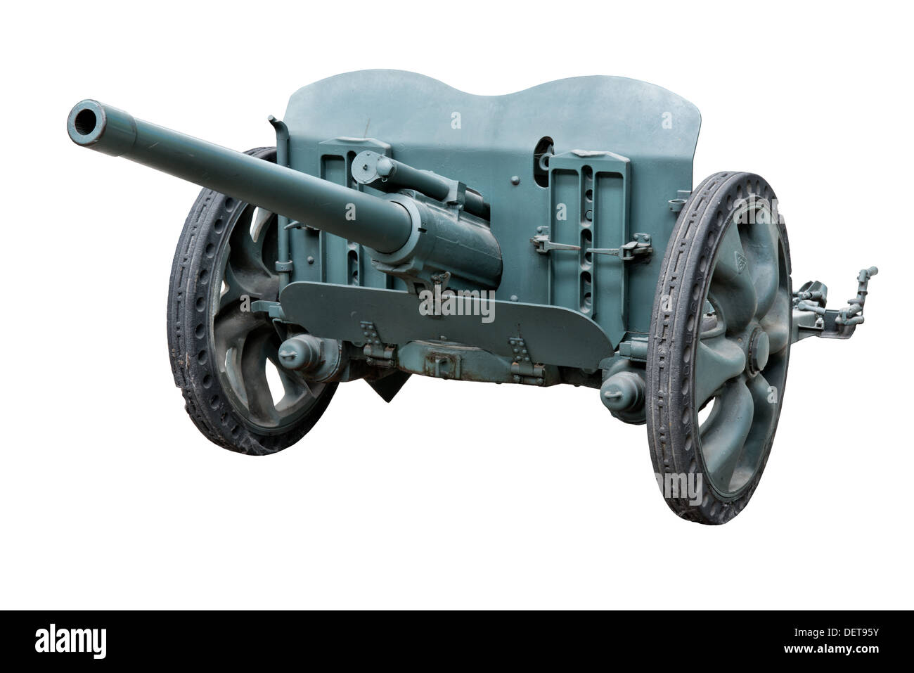 A 47mm APX SA 37 anti-tank gun used by French infantry forces at the outbreak of WW2 - Stock Image