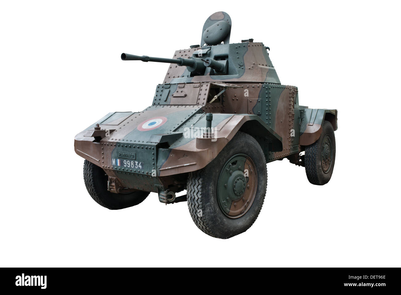 A cut out of a Panard Pan-Pan AMD178 armored car used by French Cavalry forces at the outbreak of WW2 - Stock Image