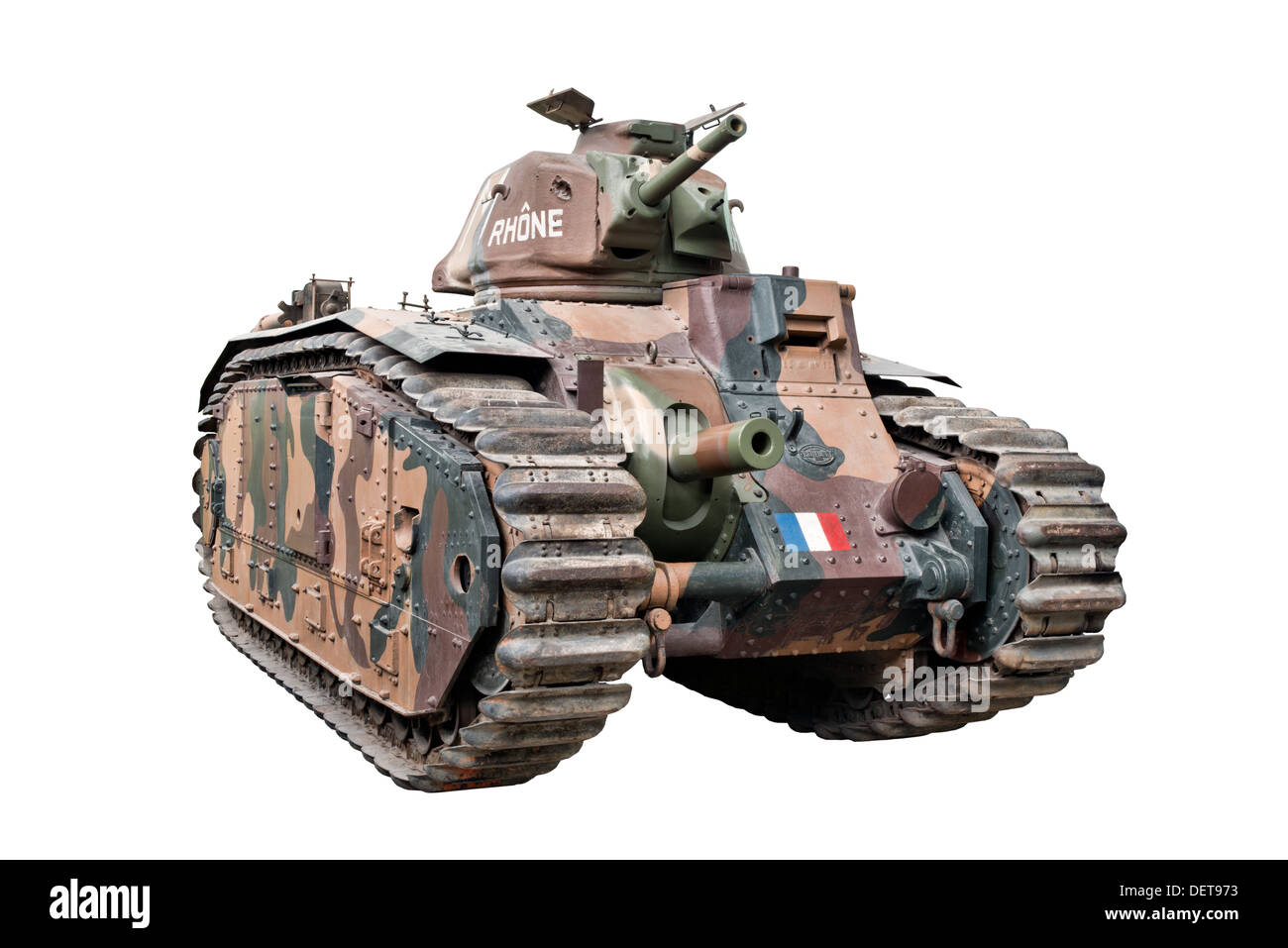 A cut out of a Renault B1 Bis Heavy Battle Tank used by French Forces at the outbreak of WW2 - Stock Image