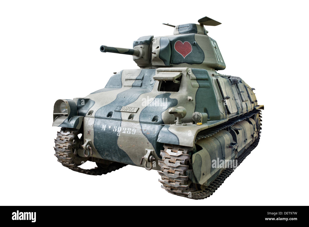 A cut out of a Souma S35 tank used by French cavalry forces at the outbreak of WW2 - Stock Image