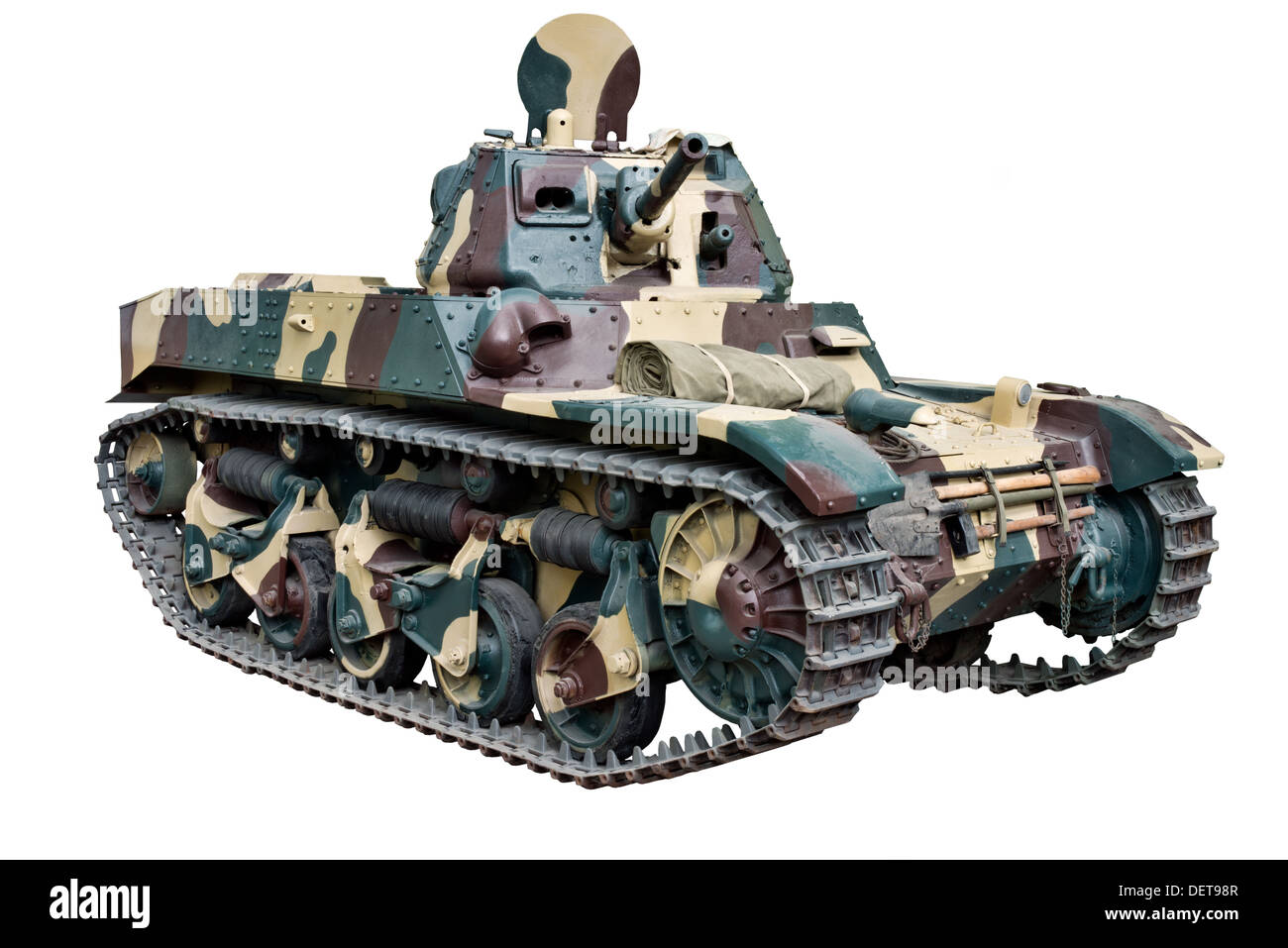 An ACG 1 tank used by Belgian forces at the outbreak of WW2. Also used by the French as an AMC35 & Germany as PzKpfw AMC 738 - Stock Image