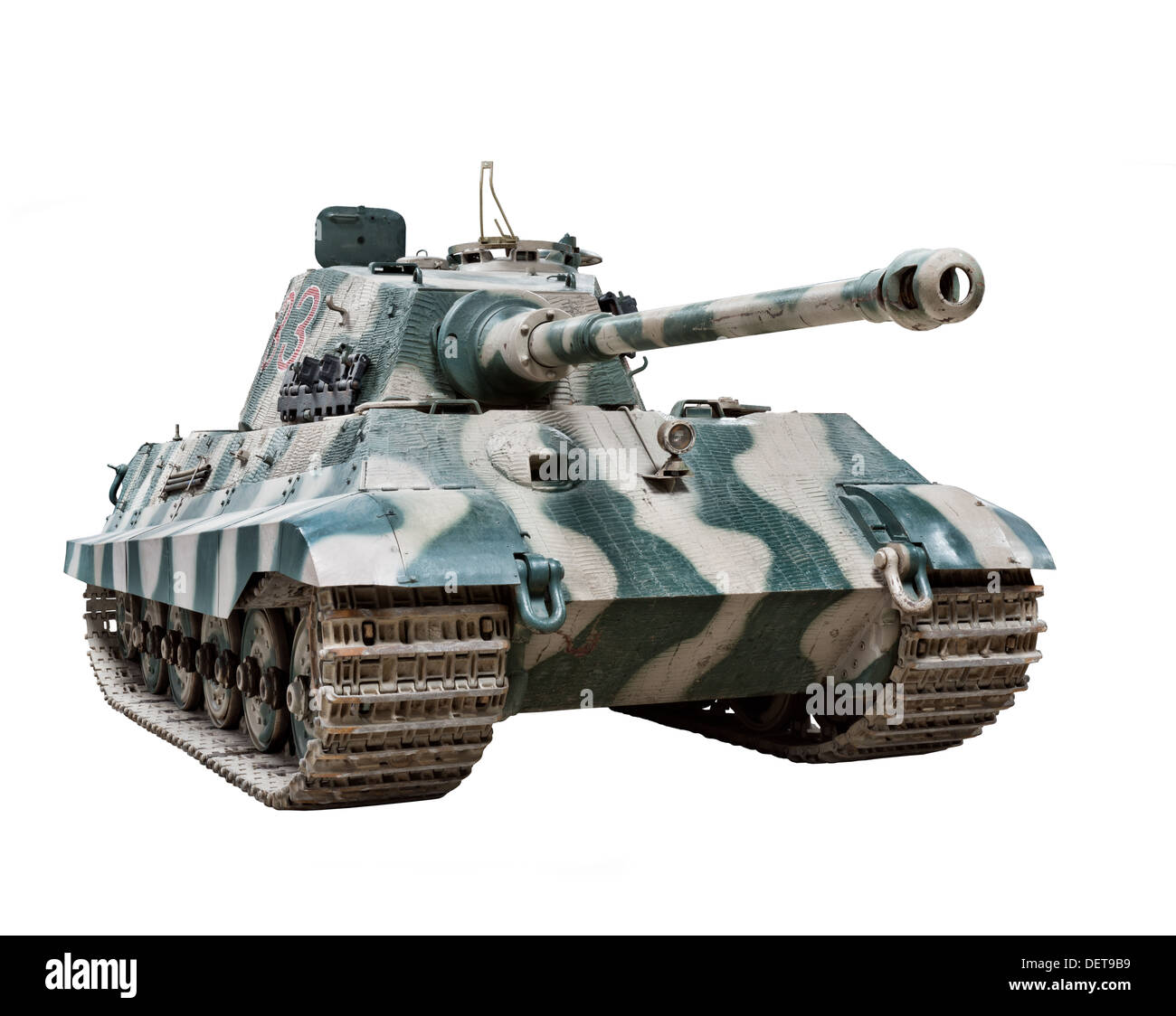 A 'King' Tiger II (Sd.Kfz.182) tank used by Nazi German forces towards the end of WW2 - Stock Image
