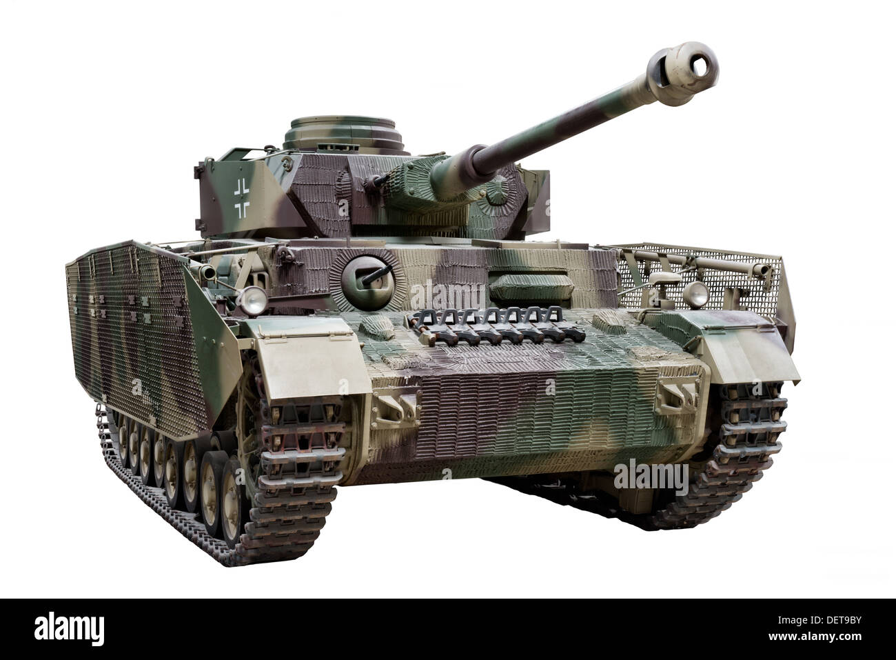 A PxKw IV (Sd.Kfz.161) Medium panzer tank used by Nazi German forces extensively during WW2 - Stock Image