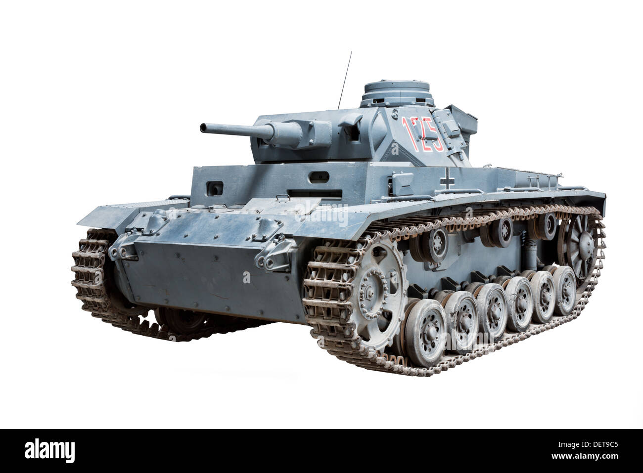 A Panzer, PzKw III (Sd.Kfz.141) medium tank used by Nazi German forces during WW2 - Stock Image