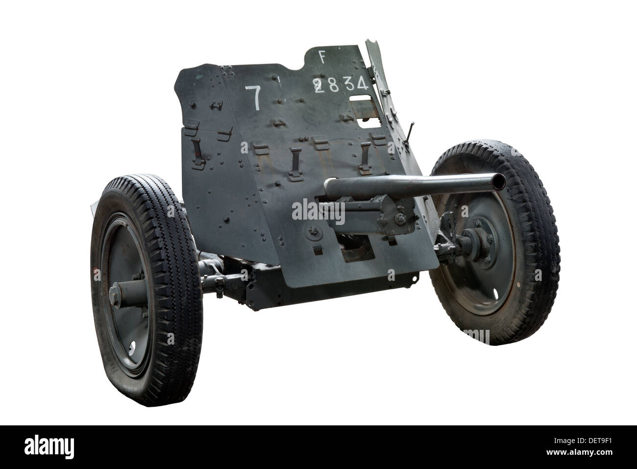 A cut out of PAK 35/36 light anti tank gun used by Nazi German forces during WW2 - Stock Image