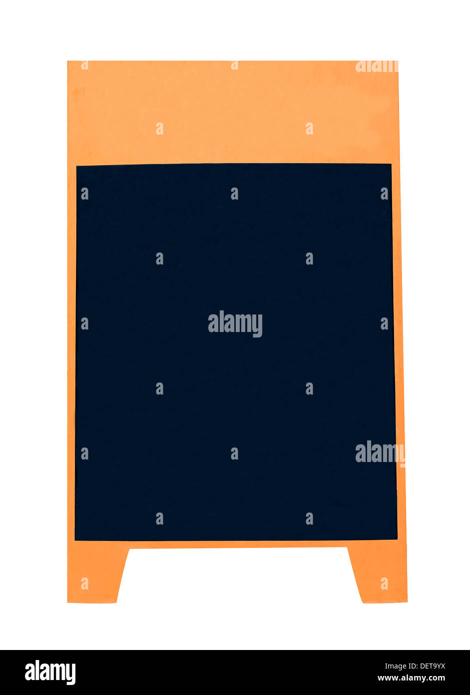 Blank advertising board isolated on white background. - Stock Image