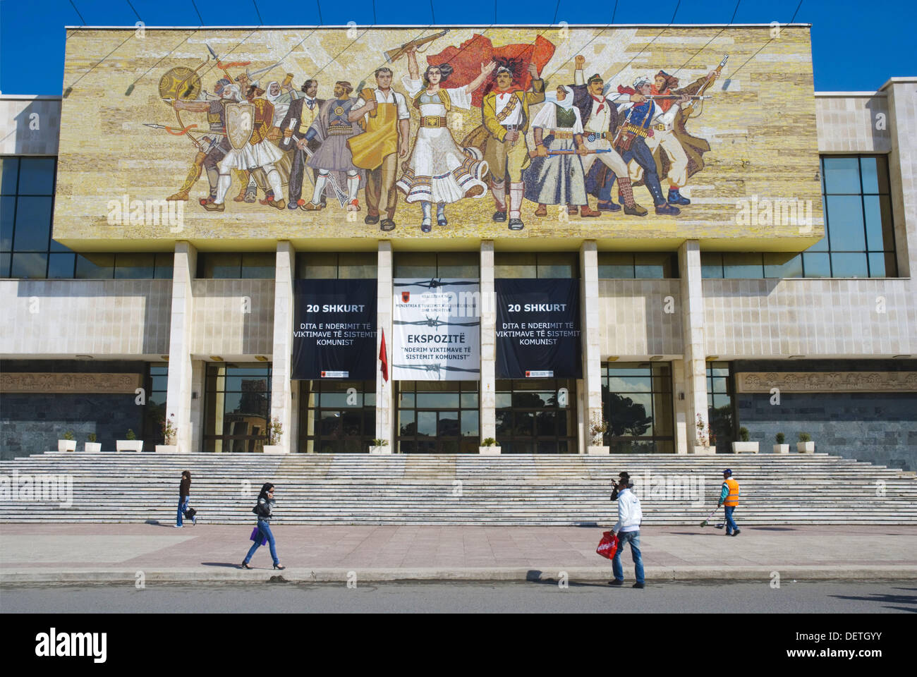 National Museum of history in central Tirana Albania Europe - Stock Image