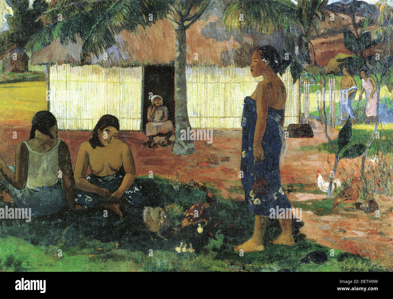 Paul Gauguin - Why are you hungry - 1896 - The Art Institute of Chicago - Stock Image