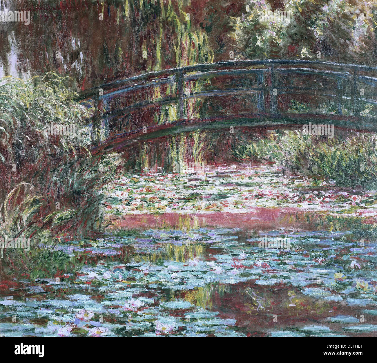 Claude Monet - Waterlily pond at Giverny - 1900 - The Art Institute of Chicago - Stock Image