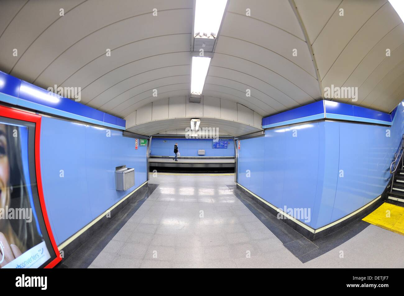 Metro Station photographed with fisheye - Stock Image