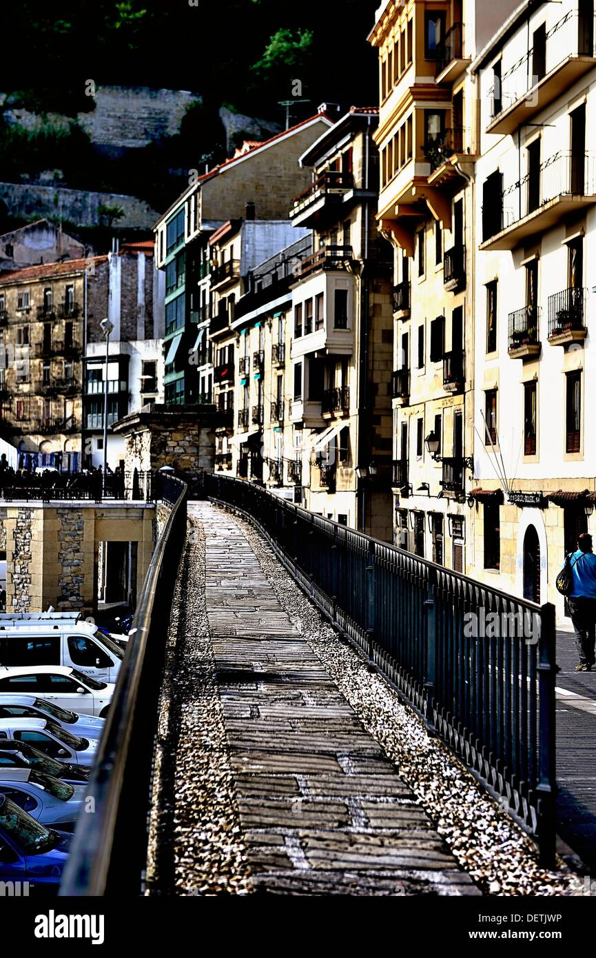 Donostia high contrast city landscape - Stock Image