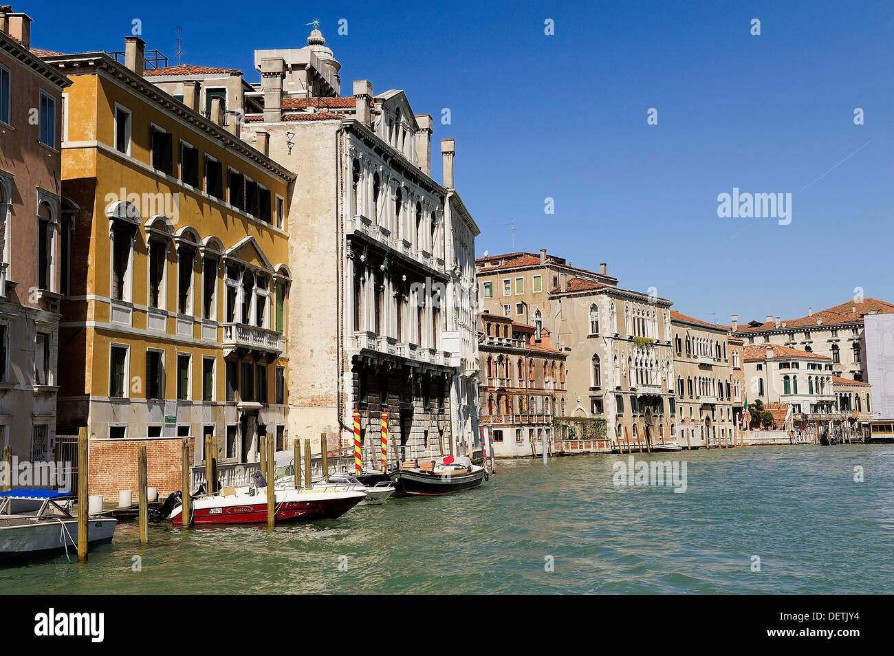 Venice is a city that is sinking 1 centimeter per year - Stock Image