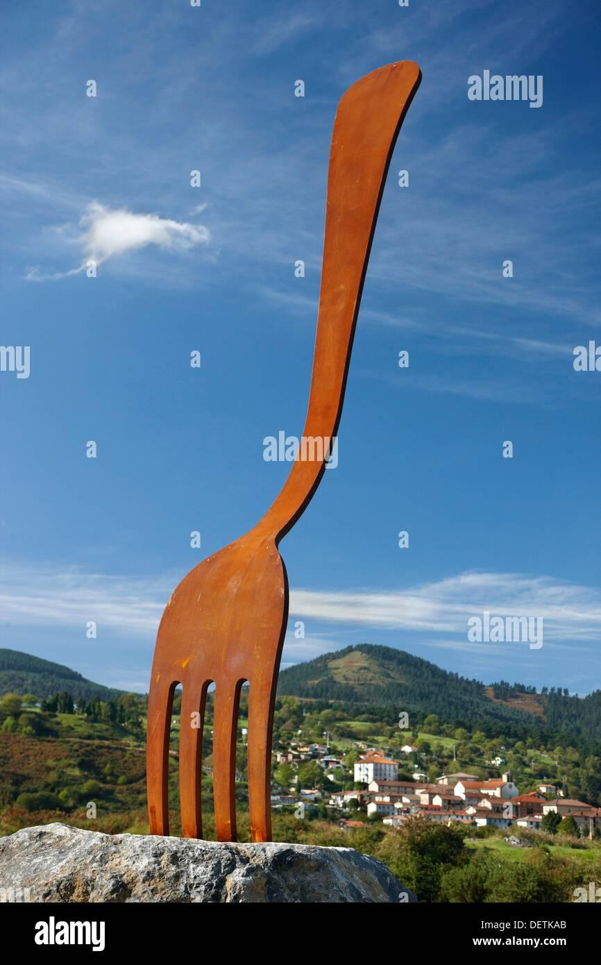 Sculpture park, La Arboleda, Valle de Trapaga, Biscay, Basque Country, Spain Stock Photo