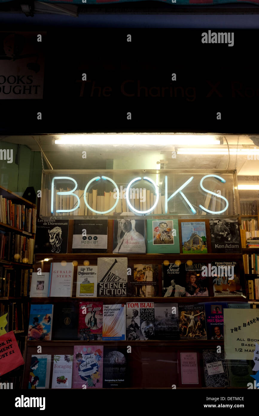 One of many bookstores in Charing Cross Road, London - Stock Image