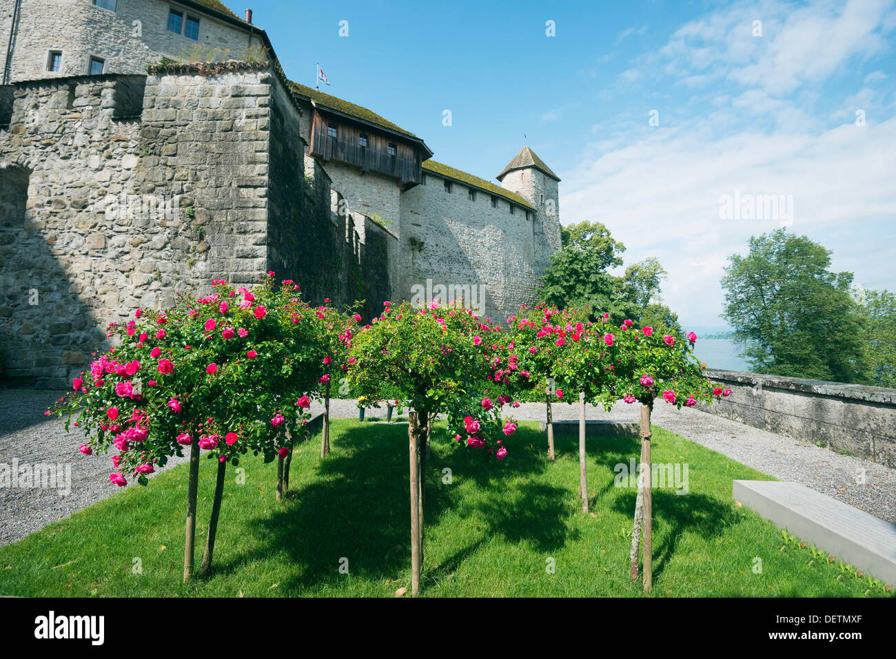 Europe, Switzerland, Rapperswil Jona, 13th century castle - Stock Image