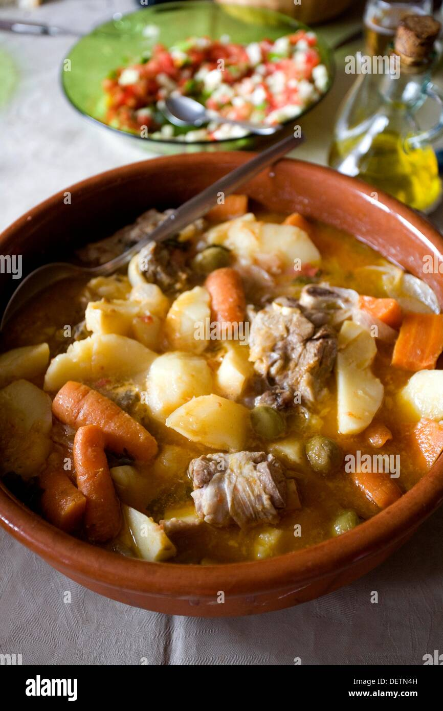 Home cooking, beef stew - Stock Image