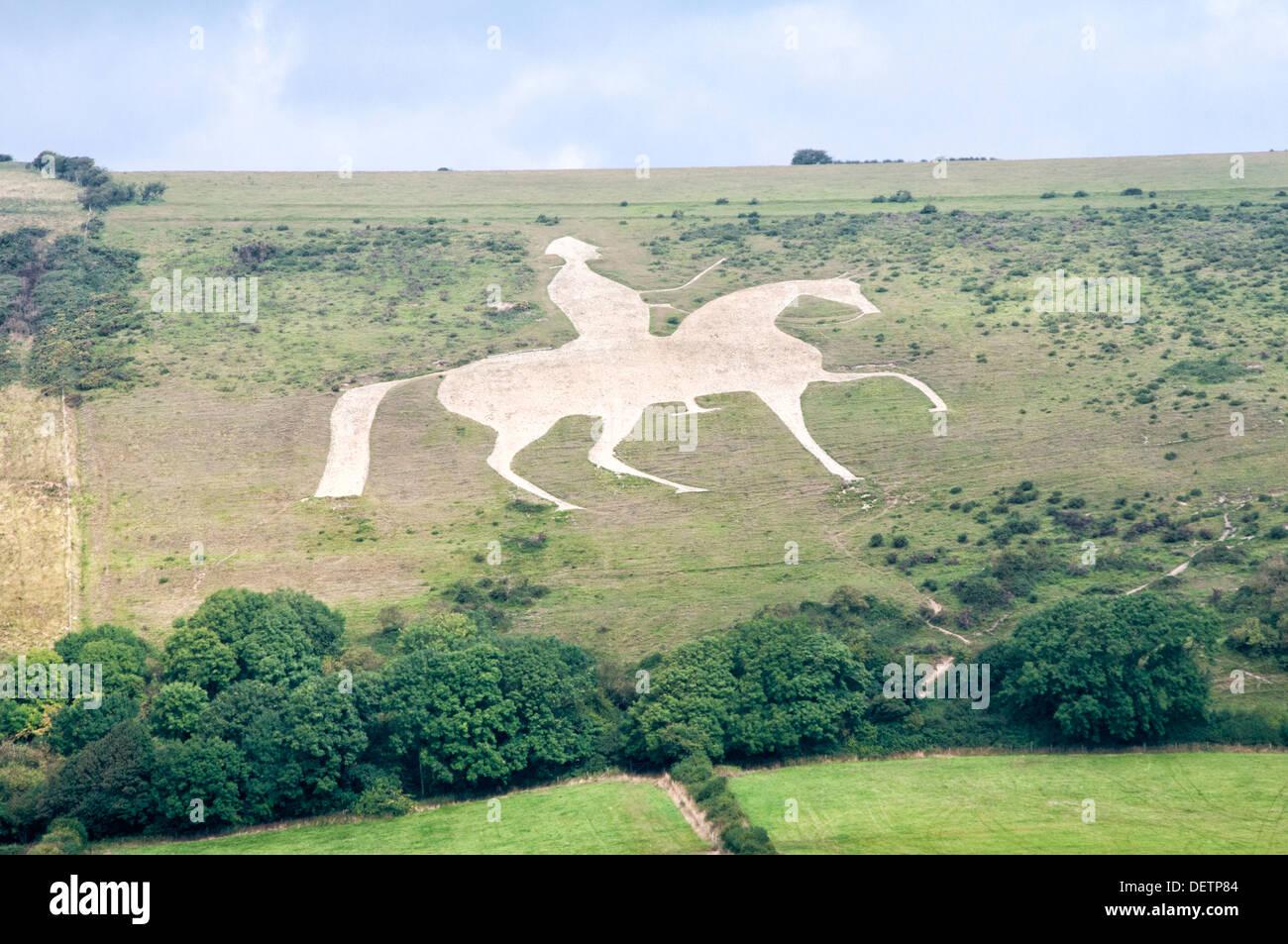 The Osmington White Horse Stock Photo