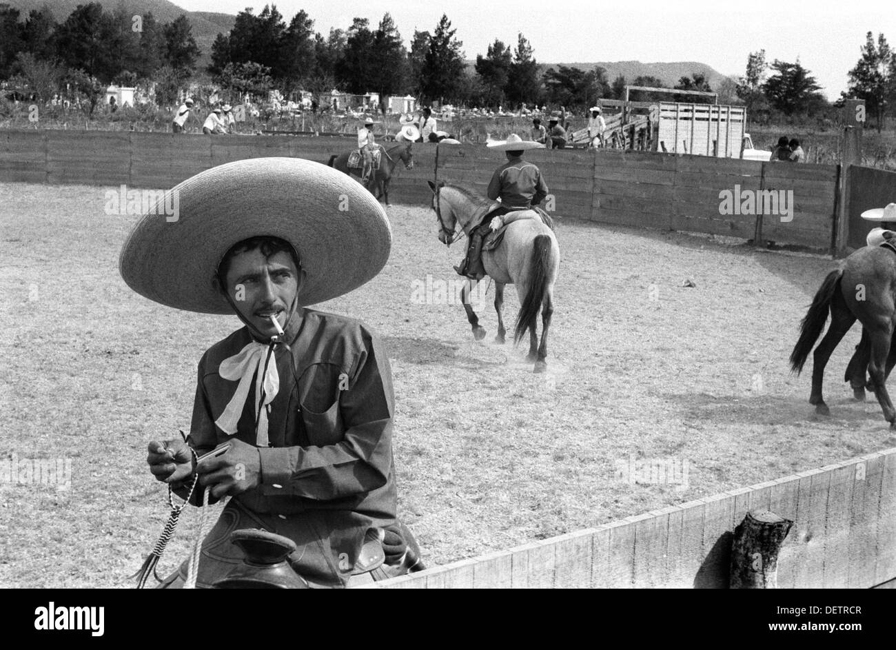 Sombrero Mexico Mexican cowboy known as Charros at a Rodeo 1973 HOMER SYKES 331c1c3e3b2