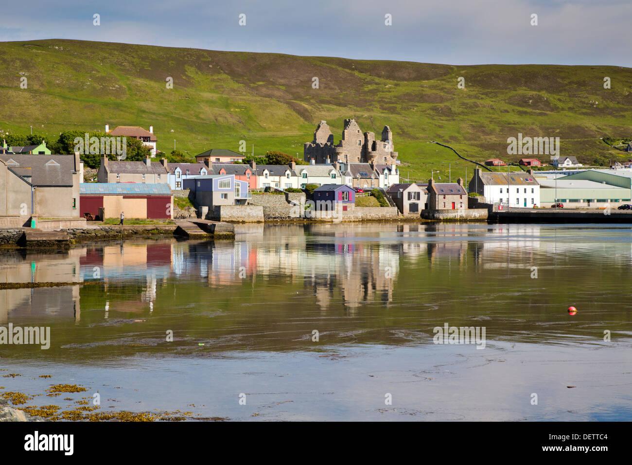 Scalloway; Shetland; UK - Stock Image