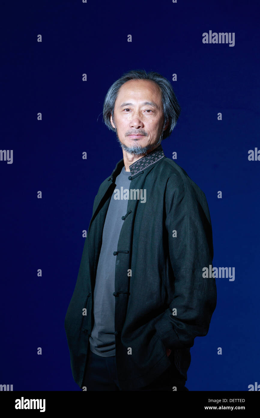 Edinburgh International Book Festival 2013 portrait of Ma Jian at Charlotte Square Garden. Ma Jian was born in Qingdao, - Stock Image