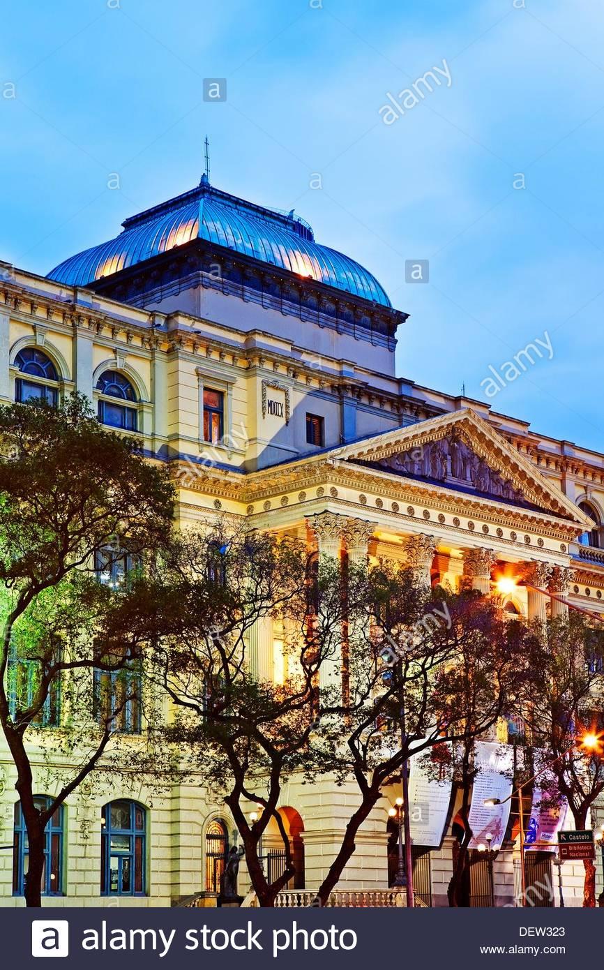 National Library,Rio De Janeiro,Brazil,Sth America - Stock Image