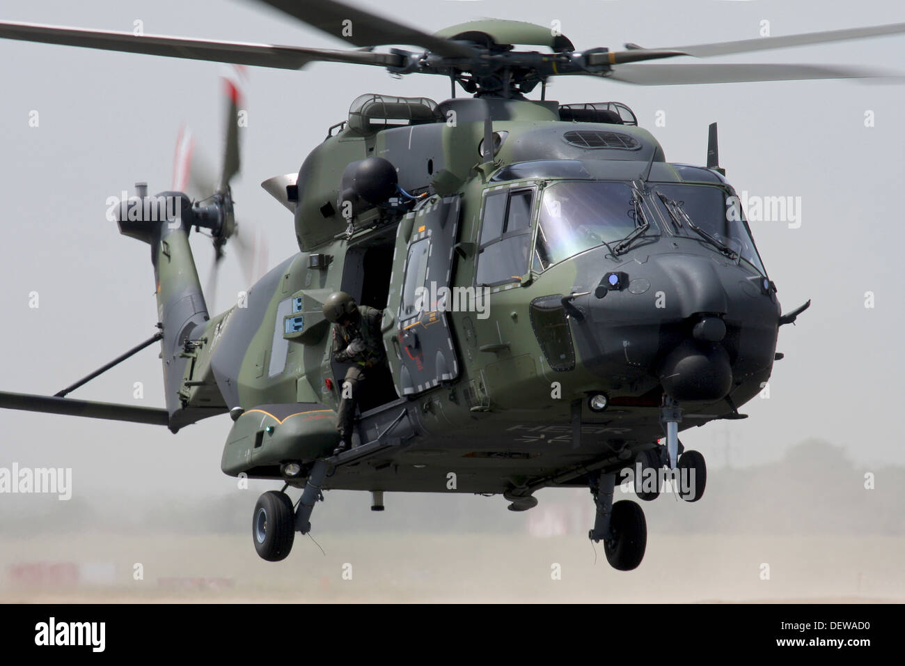 Military helicopter from German Army in action - Stock Image