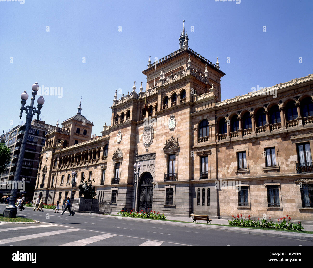 Academia de Caballería. Valladolid. Castilla-León, Spain - Stock Image
