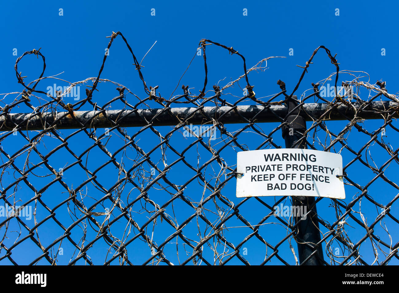 barbed wire fence and warning sign newport rhode island usa stock rh alamy com rhode island wiring services rhode island wiring service inc