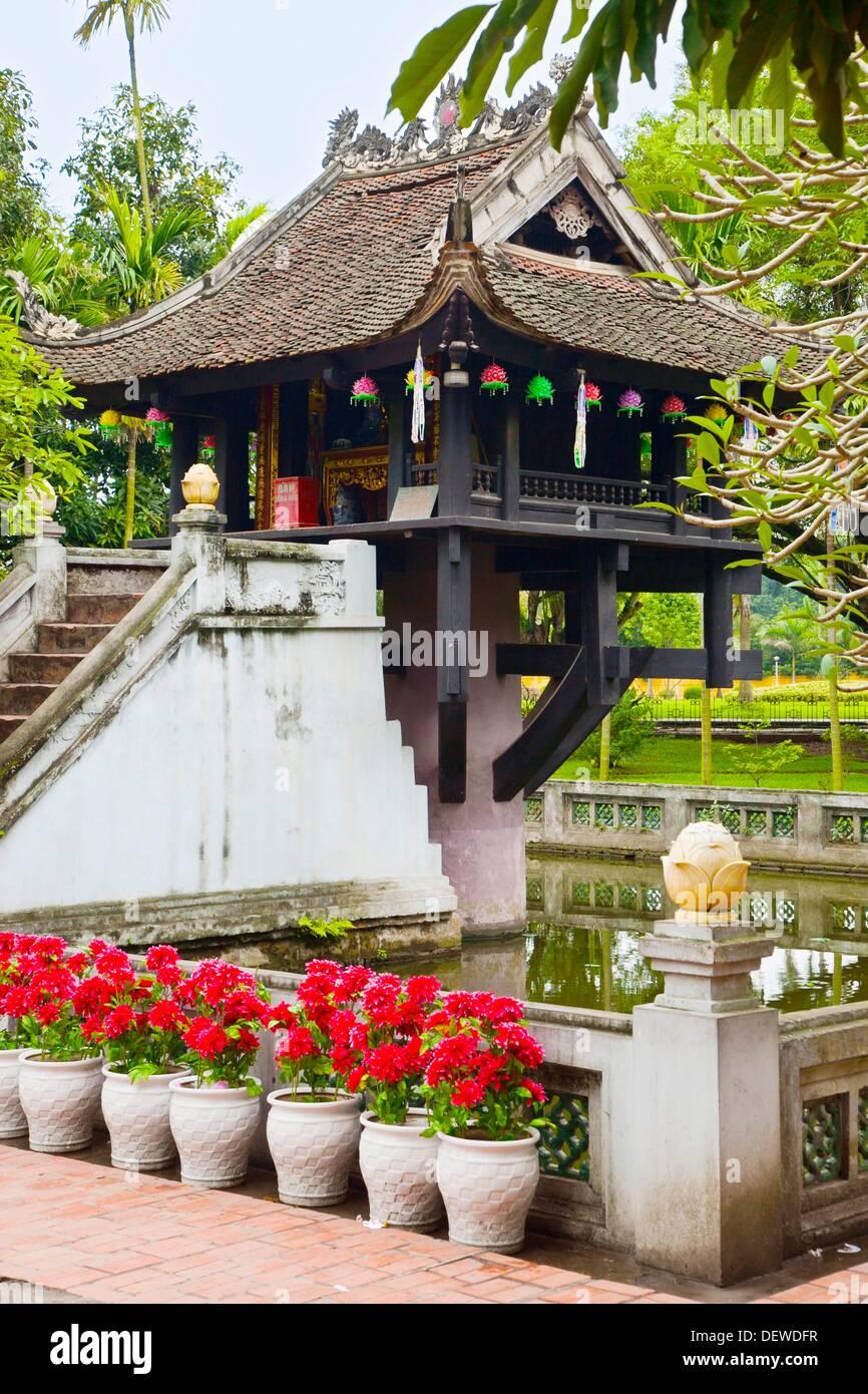Chua Mot Cot Column Pagoda  S  XI. Hanoi. Vietnam. Stock Photo