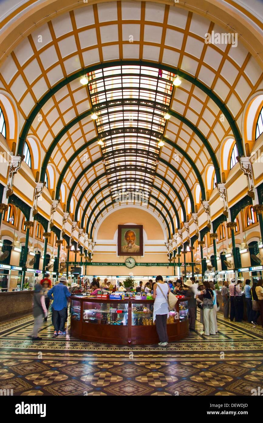 Post Office. Ho Chi Minh City (formerly Saigon). South Vietnam. - Stock Image