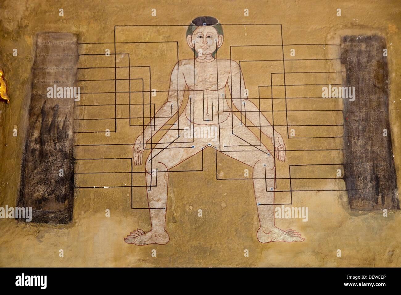 Wat Pho Thai Traditional Medical and Massage School  Bangkok, Thailand, Southeast Asia, Asia. - Stock Image