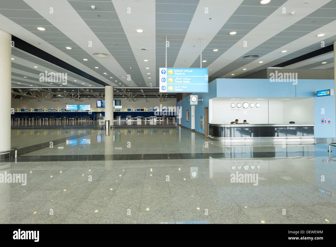 New passenger terminal building at Al Maktoum International airport at Dubai World Central district, Dubai United - Stock Image