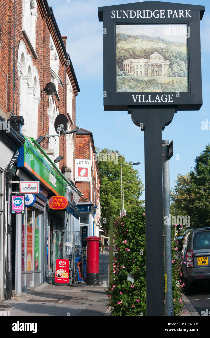 The small local centre of Sundridge Park in south London. - Stock Image