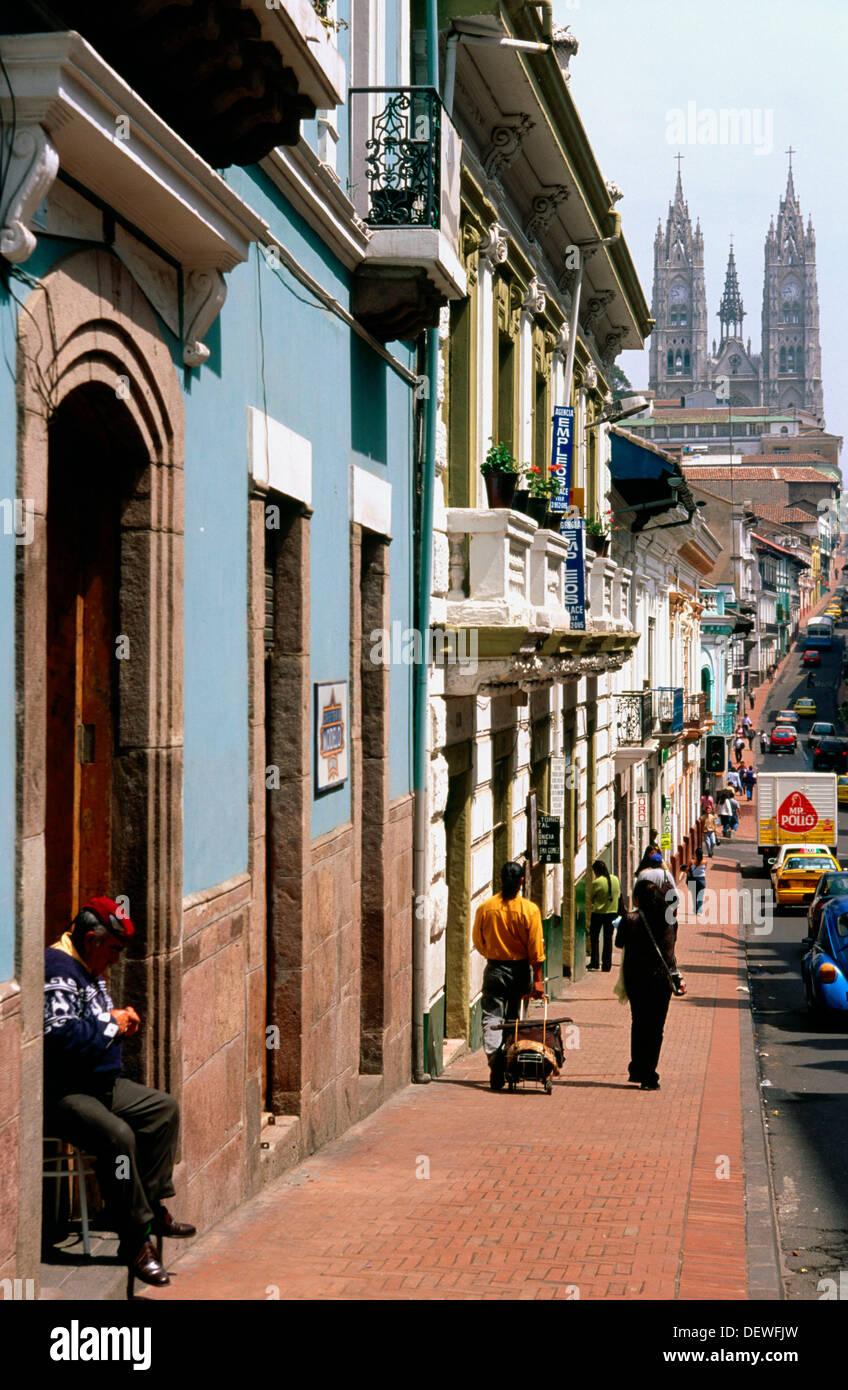Colonial Architecture In Quito Ecuador Stock Photo 60797377 Alamy