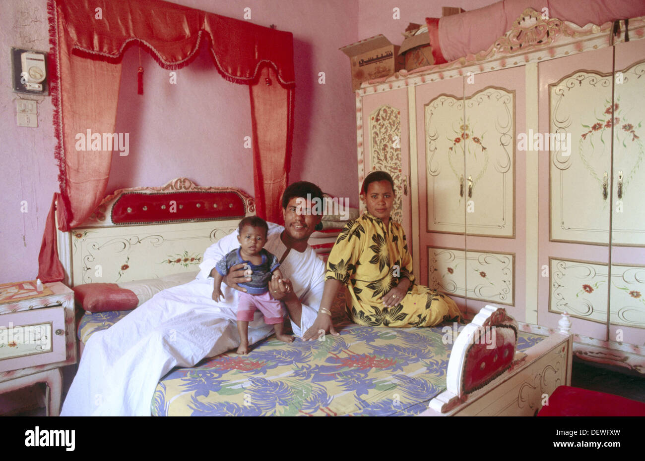 Family. King´s Valley. Egypt. - Stock Image